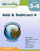 Addition & Subtraction Workbook for Grades 3-4