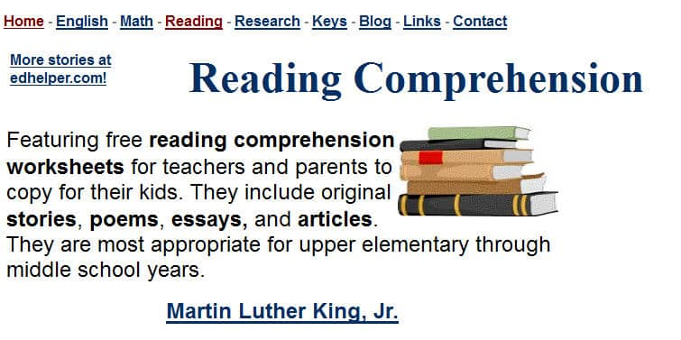 Free Reading Comprehension Worksheets – Reading Worksheets for Kindergarten for Comprehension