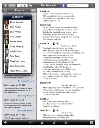 Shakespeare iPad app