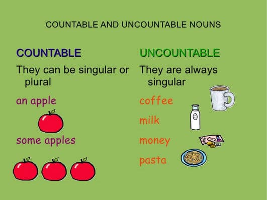 Learn english uncountable nouns