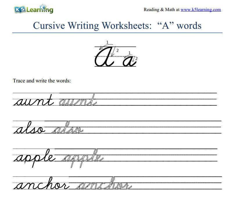 Worksheet Learn To Write Cursive Worksheets why do schools still teach cursive writing