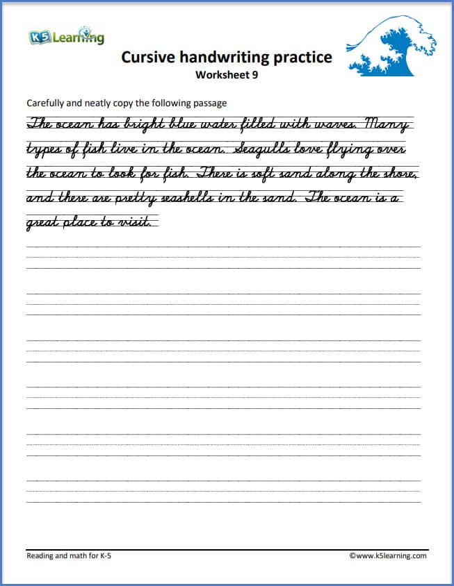 cursive writing short story