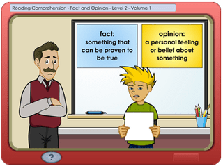 K5 Reading lesson screenshot