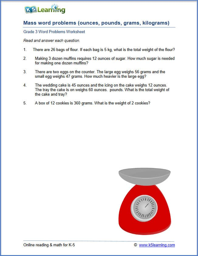 K5 Learning Math Word Problems - Kidz Activities