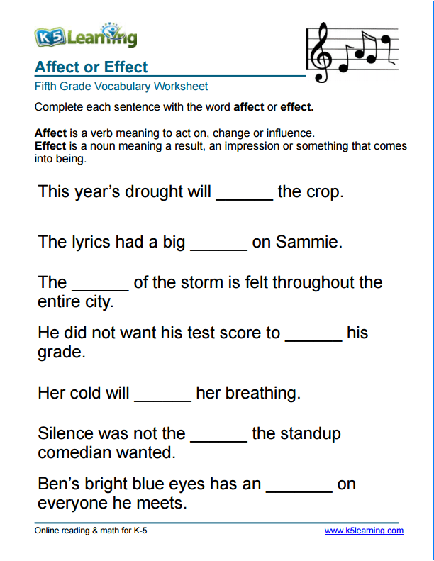 5th grade ela grammar worksheets
