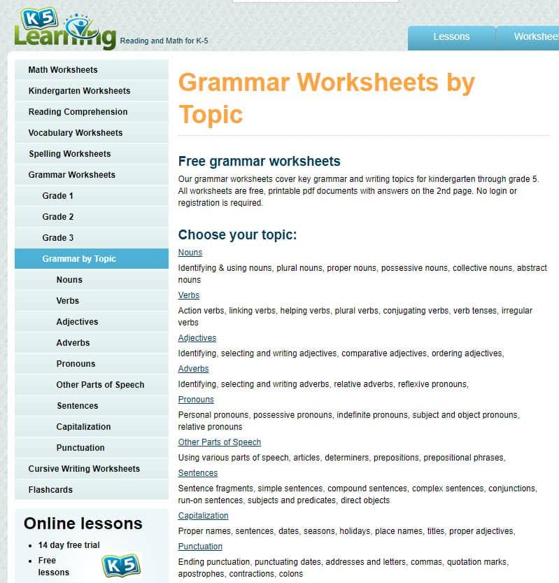 grade 3 grammar worksheets. Black Bedroom Furniture Sets. Home Design Ideas
