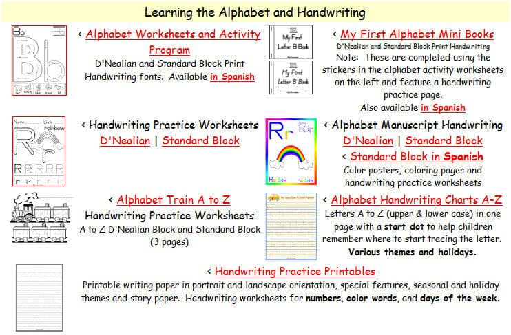 Number Names Worksheets printable alphabet handwriting worksheets : Free Printing and Cursive Handwriting Worksheets