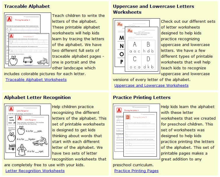 Free Printing and Cursive Handwriting Worksheets – Handwriting Worksheets for Kids
