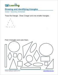 1st Grade Geometry Worksheets K5 Learning