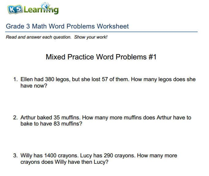 Theres a Simple Process for Solving Math Word Problems – Division Word Problem Worksheets