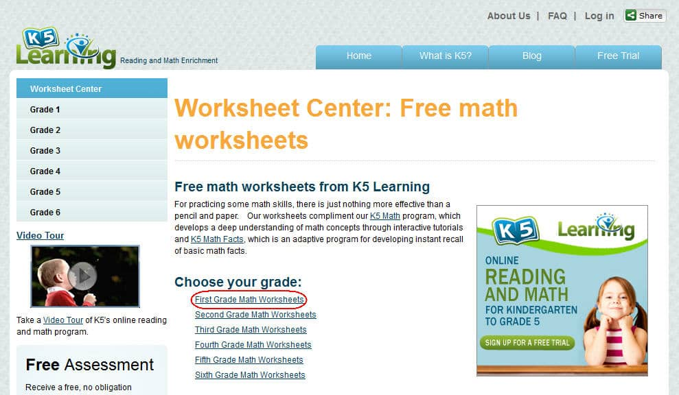 The Math Worksheet Center – The Maths Worksheet