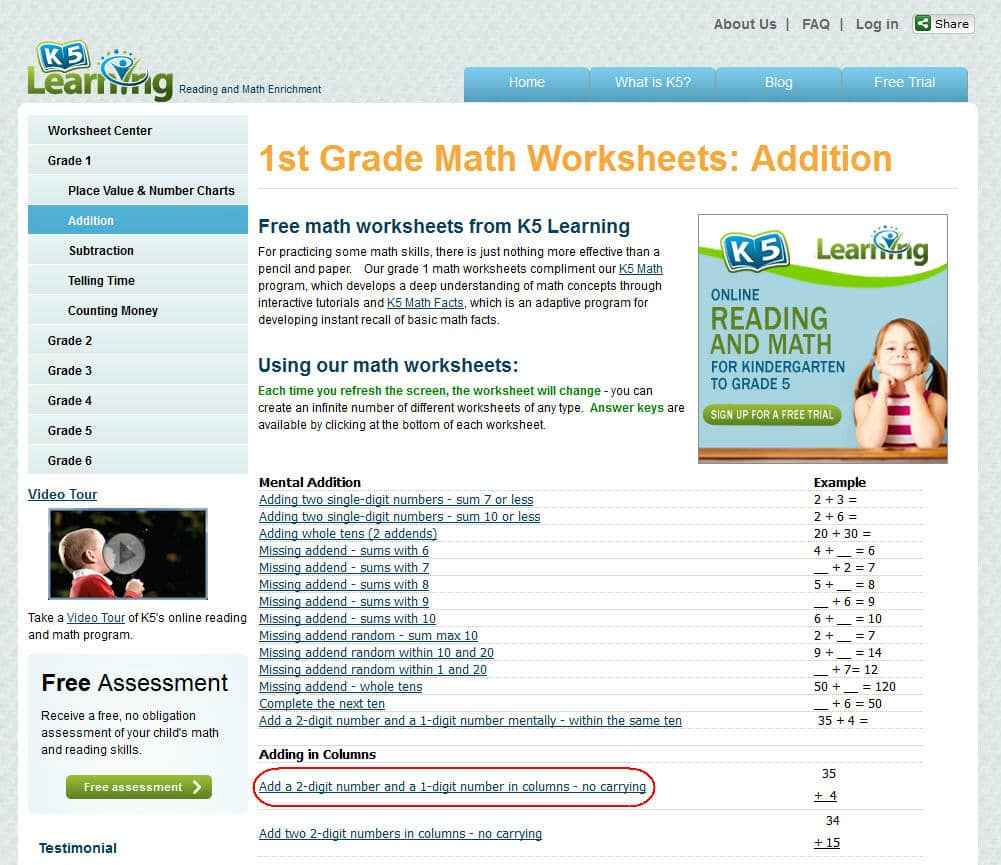 - K5 Learning Launches Free Math Worksheets Center