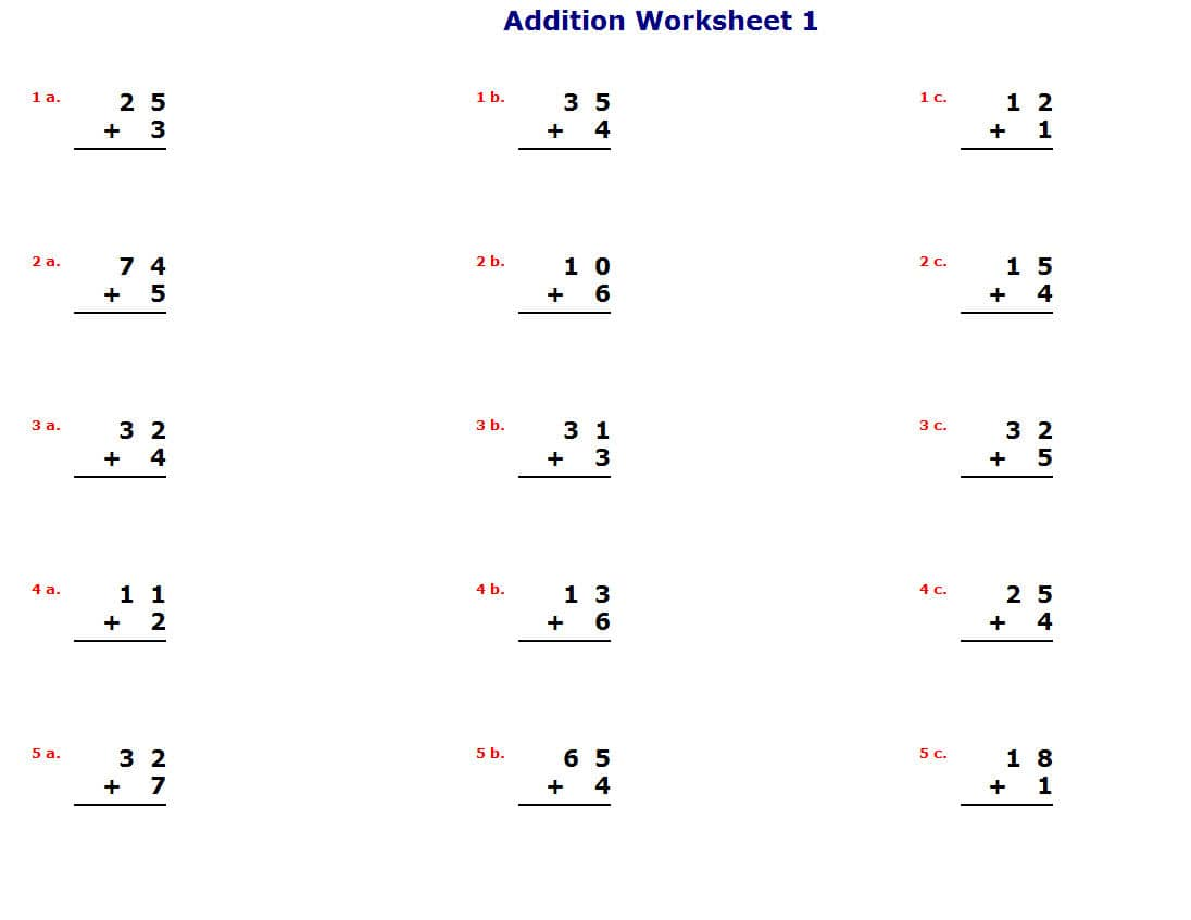 Math homework sheets – Free Math Worksheet Printables