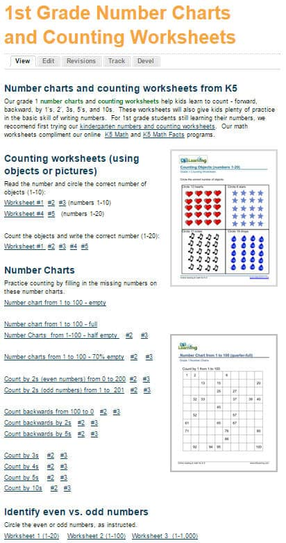Brand New Grade 1 Math Worksheets