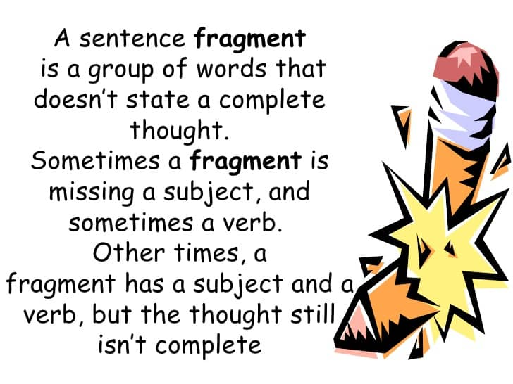 fragmented sentences