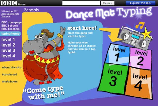 Learning To Type Online For Kids