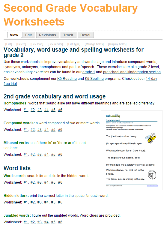 Worksheets Grade 4 Vocabulary Worksheets new printable vocabulary worksheets