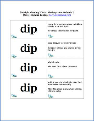 Multiple Meaning Words 2nd Grade | ESL | Pinterest | Multiple ...