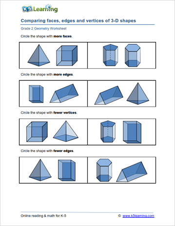 2nd Grade Geometry Worksheets | K5 Learning