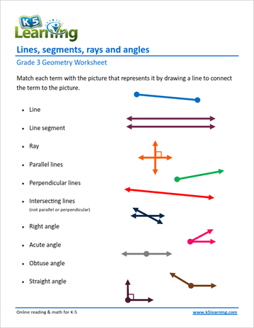Grade 3 Geometry Worksheet Ex&le