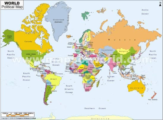 Our World Is Changing Top Geography Lessons - World map germany