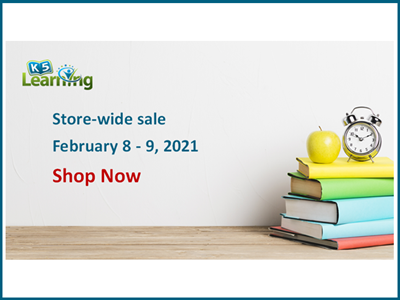 K5 Learning bookstore sale
