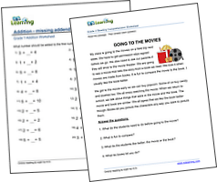 Free math and reading worksheets
