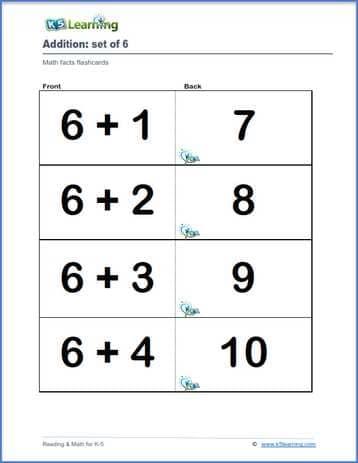 Math Flashcards K5 Learning