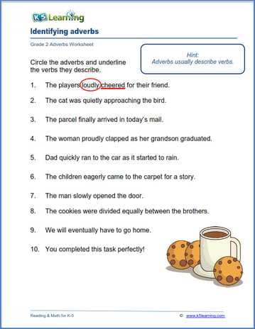 adverbs and verbs worksheets k5 learning. Black Bedroom Furniture Sets. Home Design Ideas