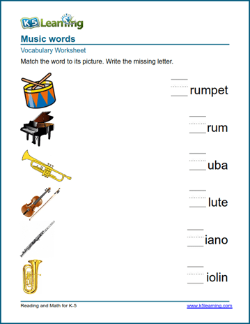 Kindergarten vocabulary practice - practice words | K5 Learning