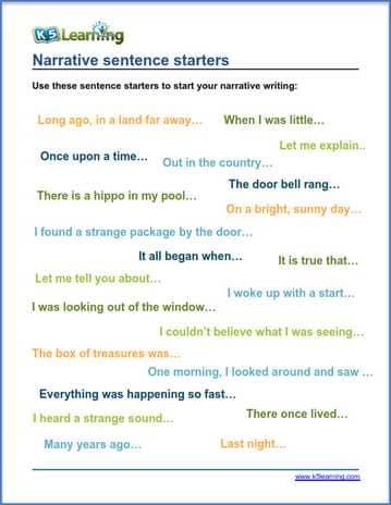narrative writing 4th grade