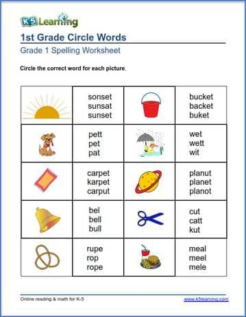 First Grade Spelling Worksheets | K5 Learning