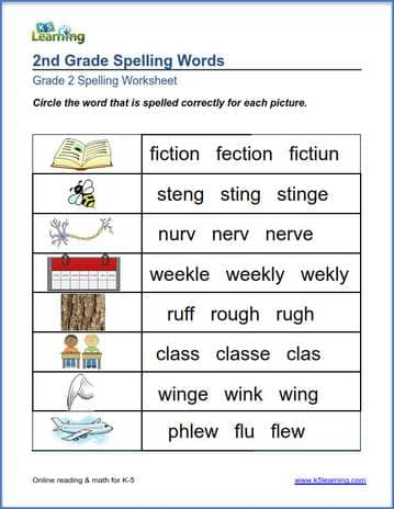 grade 2 spelling worksheet correct words k5 learning. Black Bedroom Furniture Sets. Home Design Ideas
