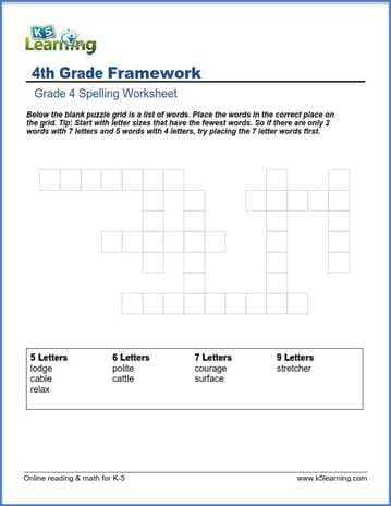 grade 4 spelling worksheet word puzzle k5 learning. Black Bedroom Furniture Sets. Home Design Ideas