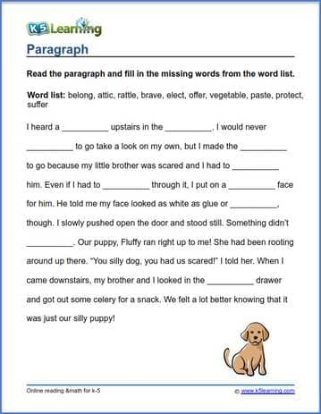 Grade 3 Vocabulary Worksheets – Printable And Organized By Subject K5  Learning