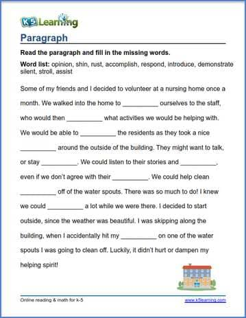 Sentences And Paragraphs: Fourth Grade Grammar Worksheets At Alzheimers-prions.com